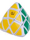 Qiji® Slät Hastighet Cube Pyramorphix Hastighet Magiska kuber Svart Blekna / Ivory Plastic