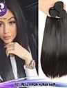 3st lot 100% malaysian virgin hår rakt mänskliga hårförlängningar naturligt svart hår väver