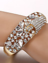European and American fashion glass rhinestone bracelet Tennis Bracelets Wedding / Party / Daily / Casual 1pc