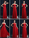Ankle-length Chiffon Bridesmaid Dress A-line One Shoulder with