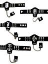 Smycken Inspirerad av Attack on Titan Cosplay Animé Cosplay Accessoarer Armband / Ring Svart Legering / PU Läder Man / Kvinna