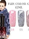1PCS ANA Fur Color Gel 12Colors Long Lasting Nail Polish 4-6