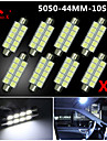 4x 44mm blanc 5050 10smd feston dome carte interieur LED ampoules de3423 6418 12v