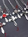 Smycken Inspirerad av Naruto Cosplay Animé Cosplay Accessoarer Halsband Silver Legering Man