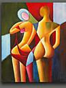 Abstract Bikini Women Handmade Oil Painting on Canvas