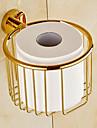 Porte Papier Toilette Ti-PVD Fixation Murale 14*16*12cm(5.5*6.3*4.7pouces) Laiton Contemporain