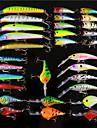 30 pcs Poissons nageur/Leurre dur leurres de peche Manivelle Poissons nageur/Leurre dur Fretin Leurre de vibration Popper Kits de leurre