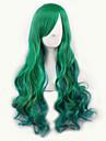 Europa och Förenta staterna på nya gradient cosplay anime peruker cos de ursprungliga gröna färg kvinnliga långt hår peruker