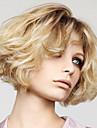 El pelo del frente del cordon 10inch pelucas 100% mongol estilo ondulado pelo virginal del pelo humano pelucas del pelo humano para las
