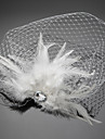 Voile de cage a oiseaux Casque Mariage / Occasion speciale Plume / Cristal / Tulle Femme Mariage / Occasion speciale 1 Piece