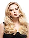 lång mode blond färg syntheic våg peruk
