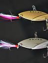 """2 st Spinnfluga Blandade färger 22g g/3/4 Uns,68mm mm/2-11/16"""" tum,Metall Drag-fiske"""