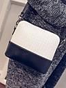 Femme Polyurethane Formel / Bureau & Travail Sac a Bandouliere Blanc / Or / Argent / Gris / Noir