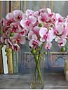 Gren Silke Orkidéer Bordsblomma Konstgjorda blommor