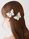 Honeymoon Lace / Rhinestone / Imitation Pearl Headpiece - Wedding  Hair Clip(2 Pieces/Set)