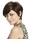 de qualite superieure et prix le moins cher brun fonce perruque courte syntheic