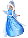 Costumes de Cosplay Princesse / Conte de Fee Cosplay de Film Bleu Couleur Pleine Manteau / Robe / Gants Halloween / Noel / Nouvel an
