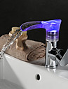 High Quality Fashion Environment Protecting Hydroelectric Power LED RGB Brass Chrome 360 Rotatable Basin Faucet
