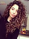 8a brasiliansk 100% obearbetat jungfru människohår kinky lockigt spets hår peruk
