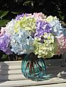 Gren Polyester Hortensior korg med blommor Konstgjorda blommor