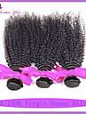 vague profonde peruvien 3 faisceaux boucle armure extensions de cheveux humains peruvienne cheveux vierges boucles crepus