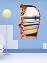 Tecknat / Romantik / Fashion / Landskap / Former / fantasi / 3D Wall Stickers Väggstickers i 3D , PVC 90cm x 60cm( 35in x 24in )