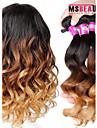 """3 st / lot 16 """"-24"""" 7a 3t indiska lös våg ombre hårwefts färg 1b / 4/27 # jungfru människohår väva buntar"""