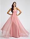 Floor-length Chiffon Bridesmaid Dress - Pearl Pink Sheath/Column Sweetheart