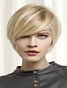 mode blont kort syntetisk peruk förlängningar kvinnor dam stil