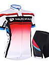 NUCKILY® Cykeltröja med shorts Dam / Unisex Kort ärm CykelVattentät / Andningsfunktion / Ultraviolet Resistant / Vattentät dragkedja /
