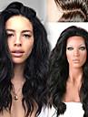 """non traite 12 """"-26"""" cheveux humains naturel vague lache pleine perruque de dentelle de cheveux humains dentelle perruques avant peruviens"""
