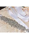 Cetim Casamento / Festa/Noite / Dia a Dia Faixa-Paetes / Micangas / Apliques / Cristal / Pedraria Feminino 98 ½polegadas(250cm)Paetes /