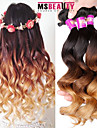 "3 pieces / lot 16 ""-24"" 7a 3t bresiliens extensions de cheveux de vague lache vierges 100% de poils non transformes ombre humaine vierges"