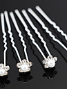 Pearl Flower U Shape Flower Wedding Headpieces Hairpins (set of 20)