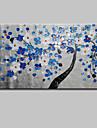 HANDMÅLAD Abstrakt / Tecknat / Blommig/BotaniskModerna En panel Kanvas Hang målad oljemålning For Hem-dekoration