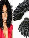 3pcs / lot obearbetade brasilianskt hår aunty Funmi hår Aunty Funmi spänstiga lockar billiga brasilianska jungfruligt hår