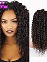 meilleure vente de cheveux humains crepus boucles avant de dentelle des perruques # 1b partie mediane perruques boucles pour les femmes