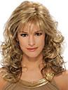 mode boucles brun dore vagues de couleur de melange de perruques de cheveux synthetiques de haute qualite.