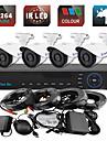 yanse® 4ch 960h CCTV DVR kit ir färg vattentät kamera övervakningskameror systemet 1000tvl 714cf04