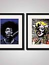 Abstrakt / Musik / Människor / Känd Inramat konsttryck / Inramad duk / Inramat set Wall Art,PVC Svart Passepartout inkluderad med Frame