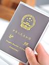 Etui a Passeport & Piece d\'Identite de Rangement de Voyage Plastique 18.8 x 13.4 x 0.2cm