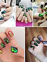 Abstrakt / Vackert - Finger / Tå - 3D Nagelstickers / Nagelsmycken - av Andra - 1 - styck 12*7.8*0.1 - cm
