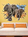 Animaux / Nature morte / Mode / Vacances / Forme / Fantaisie / Loisir Stickers muraux Stickers muraux 3D , PVC 70*100CM