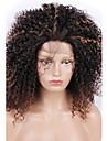 mode syntetiska peruker spets front peruker kinky lockigt svart och brunt värmebeständigt hår peruker kvinnor
