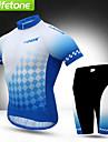 BATFOX® Cykeltröja med shorts Herr Kort ärm CykelAndningsfunktion / Snabb tork / Vindtät / Ultraviolet Resistant / Anti-Eradiation /