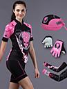 CHEJI® Cykeltröja med shorts Dam Kort ärm Cykel Andningsfunktion / Snabb tork / Ultraviolet Resistant / 3D Pad / Begränsar bakterier