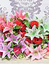 12 tetes de lys roses fleurs fleur de soie soie fleurs artificielles pour kit de fleurs de decoration a domicile