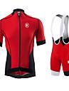 KEIYUEM® Maillot et Cuissard a Bretelles de Cyclisme Homme / Unisexe Manches courtes VeloEtanche / Pare-vent / Resistant a la poussiere /