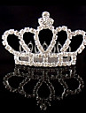 Dame Rhinestone / Krystall / Legering Headpiece-Bryllup / Spesiell Leilighet Diademer 1 Deler Elfenben Rund