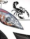 28 * 17cm rolig den tecknade skorpionen kungen bil klistermärke bil fönster vägg dekal bil styling (2st)